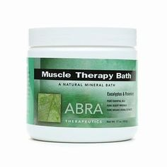 Abra Muscle Therapy Bath,, Eucalyptus & Rosemary 17 oz by AB. $35.99. Abra Muscle Therapy Bath,, Eucalyptus & Rosemary 17 oz. Eucalyptus & Rosemary Pure Essential Oils  Pure Desert Minerals   Pure Organic Herbal Extracts  Formulated For Powerful Relief  Organic Herbal: Pure Essential Oils Dissolves Easily: No Uncomfortable Rock Salt No Preservatives: No Artificial Fragrances or Colors No Animal Testing: No Animal Ingredients  Soothes Sore Muscles: Relieves Aches & Pains  ABRA...