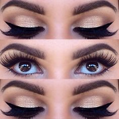 The eyelashes are a little too dramatic for my preference but the eyeliner and eyeshadow is gorgeous Pretty Makeup, Love Makeup, Makeup Inspo, Makeup Inspiration, Fancy Makeup, Prom Makeup, Wedding Makeup, Pageant Makeup, Makeup Goals