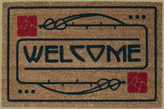 Craftsman style welcome mat