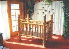 16 Baby Furniture Plans: Free Cradle Plans, Free Crib Plans and More! i just love the log crib but i don't think we'll be building that one somehow lol xx Log Furniture, Baby Furniture, White Furniture, Luxury Furniture, Furniture Dolly, Furniture Stores, Cheap Furniture, Furniture Design, Baby Boy Nurseries