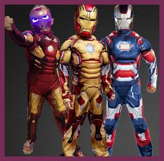 Iron Man 3 Patriot Muscle Child Superhero Halloween Costume Kids Fantasy Fancy Dress Avengers Superhero Carnival Party Disfrace