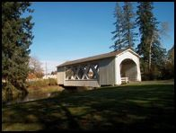 Stop at the Jordan Covered Bridge, in Stayton's Pioneer Park, on your covered bridge tour.