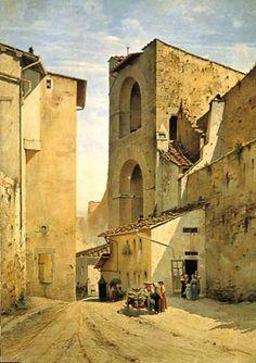"Odoardo Borrani, ""Antica Porta a Pinti"" (1870-1875), Firenze"