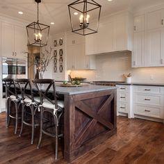 Coastal beach house kitchen with nautical lighting | Kitchens ... on
