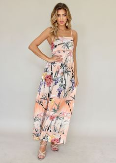 Callie Maxi Dress - Cupid | Gingham and Heels