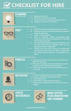 Checklist For The Hire!