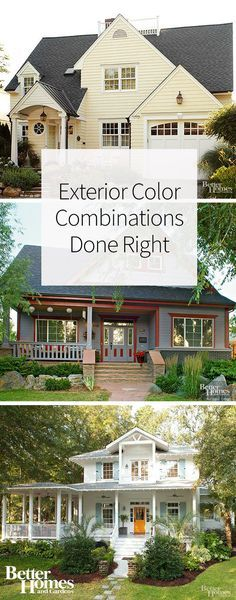 Getting ready to paint your home's exterior? We're sharing our favorite exterior color combinations that will help you completely transform your house and boost your home's curb appeal. Get inspired by these homes that have combined different paint colors beautifully to create an appealing color scheme.