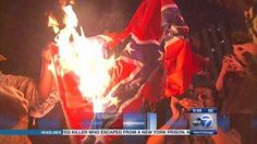 Confederate Flags Set On Fire In Chicago