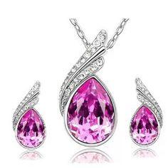 Austrian Crystal Jewelry Sets. Wedding Jewelry SetsWedding  AccessoriesPandoraPendant EarringsCrystal NecklaceNecklace SetCrystal  JewelryDrop ... 375a90088713