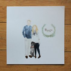 Custom Watercolored Family Painting by Indiiaura on Etsy