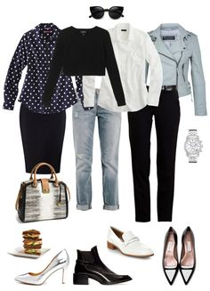 Ensemble: Cropped Sweater over a Longer Shirt - YLF