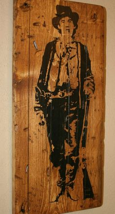 Billy The Kid, Western Decor, Outlaw Country, Rustic Western Decor, Custom Wood Signage, Distressed Wood Sign - Billy The Kid Outlaw (Dusty)