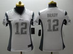 Women New England Patriots 12 Tom Brady White Limited Jersey