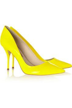 Sophia Webster|Lola neon patent-leather pumps|NET-A-PORTER.COM