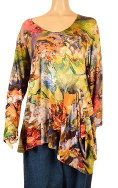 Beautiful Impressionist Flower Print Tunic - Summer 2013