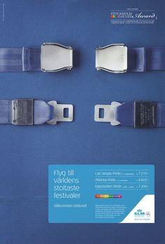 KLM: Stockholm Gay Life Award Seatbelts