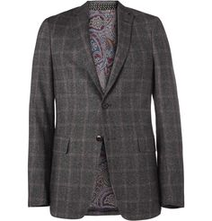 Etro Slim-Fit Plaid Tweed Blazer | MR PORTER