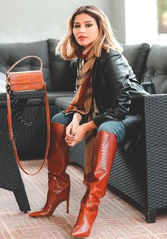 Leather High Heel Boots, Knee High Boots, Over The Knee Boots, Heeled Boots, Sexy Boots, Cool Boots, Women's Boots, Dress With Boots, Jeans And Boots