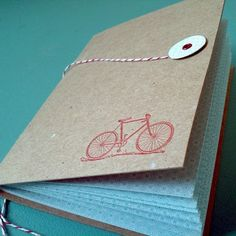 Bicycle Journal with Bakers Twine - IdeaChic  - 3