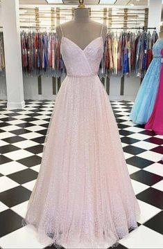 Tulle Prom Dress,Spaghetti Straps Prom Dress,A-Line Prom Dress,Floor-Length Prom Dresses Long Pink, A Line Prom Dresses, Tulle Prom Dress, Formal Evening Dresses, Pretty Dresses, Party Dress, Pink Tulle, Character Outfits, Designer Dresses