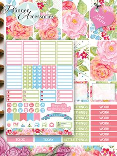 Happy Planner Weekly Kit Stickers Weekly von EmelysPlannerShop