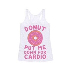 HUMAN Donut Put Me Down For Cardio ($22) ❤ liked on Polyvore featuring tops