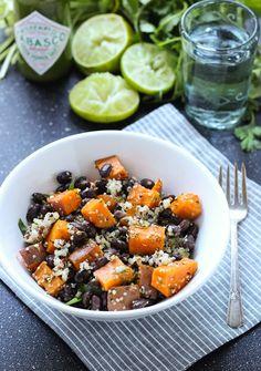 Sweet Potato Hemp Seed Quinoa Bowls