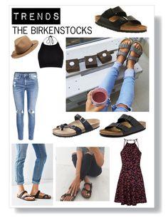 """Trends : Birkenstocks"" by julgarciap ❤ liked on Polyvore featuring Birkenstock, rag & bone, H&M, River Island and Glamorous"