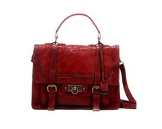 Maple and West Frye Cameron Satchel - Burnt Red
