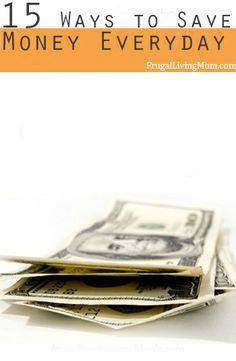 jeden Tag Geld sparen