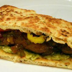 Yum! I'd Pinch That   Sticky Chicken Naan Sandwich #recipe