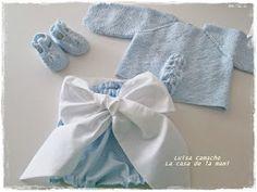 La Casa de la Mami - Especial Canastilla: Conjunto bragota y jersey azul