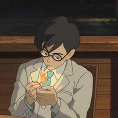 Studio Ghibli Art, Studio Ghibli Movies, Personajes Studio Ghibli, Le Vent Se Leve, Wind Rises, Animated Icons, Old Anime, Anime Scenery, Aesthetic Anime