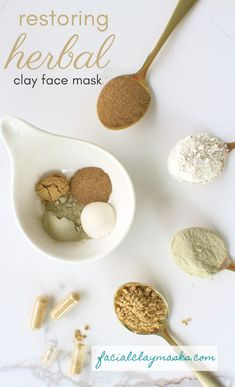 Marshmallow Root and Gotu Kola are both ancient herbs used in Ayurvedic treatments, and they are amazing for your health too. They pack some pretty hefty benefits when combined into our clay mask with french green clay and kaolin clay. Marshmallow Root Powder, Clay Face Mask, Face Masks, Clay Faces, Green Clay, Bath Melts, Hair Rinse, Clean Beauty, Beauty Tips