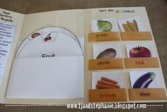 Veggie or fruit / lapbook download, grocery store/nutrition unit, for Tom