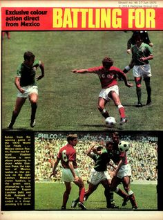 Mexico 0 USSR 0 in 1970 Mexico City. Action from the opening game in Group 1 at the World Cup Finals. 1970 World Cup, World Cup Final, World Football, Mexico City, Finals, Action, Group, History, Games