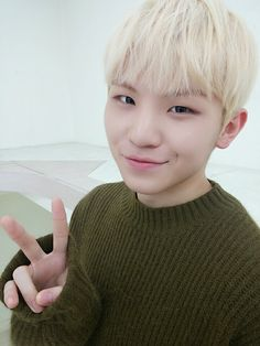 Woozi's selfie from 151222 Twitter Q&A