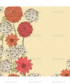 Floral Background  #GraphicRiver         Beige background with colorful hand drawn flowers and place for text     Created: 22August13 GraphicsFilesIncluded: VectorEPS Layered: Yes MinimumAdobeCSVersion: CS Tags: background #beautiful #beauty #birthday #branch #card #creative #decoration #decorative #design #element #floral #flower #frame #graphic #greeting #invitation #leaf #nature #ornate #pattern #retro #rose #shape #spring #summer #vector #vintage