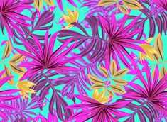 Beautiful Tropical Fall Leaves Design, Special for Textile by REPIC - - Editable vector elements, individualy.- Editable background. - Digital drawing
