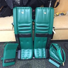 Here's Nick McBride of the WHL's P.A Raiders' new Vaughn V6 setup. Bold move. Well done!