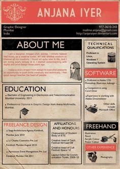 La coctelera visual: 50 CV infográficos. Cool Infographic resumes.
