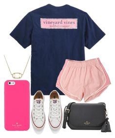 """""""Preppy"""" by jadenriley21 on Polyvore featuring Vineyard Vines, Converse, Kate Spade and Kendra Scott"""