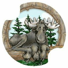 Big Sky Moose Carsters - Coasters for Your Car by Thirstystone Resources, Inc.. $10.29. Absorbent ceramic coasters will soak up drinks from cup holders. Each package contains TWO carsters. Easy to clean and great for gift giving. Fits cup holders in most cars, vans, SUV's, and trucks. Two fingertip grips for easy removal from cup holder. Carsters are absorbent Coasters for your Car, SUV, Van, and truck, They are absorbent ceramic coasters that will soak up those anno...