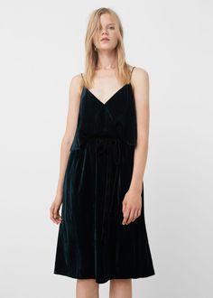 Fluwelen jurk | MANGO