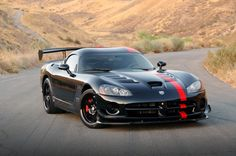 """bronzestandard:  """" The Dodge Viper. The original American supercar. The car that was Dodge's first swing at it's Detroit fight club buddies, Ford and Chevy. This beast of a machine boasts an 8.0L V10 engine, which has been refined slightly. When first..."""