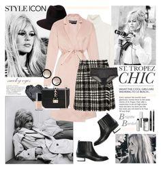 Channeling Bardot by barngirl on Polyvore featuring Nina Ricci, Rochas, Dolce&Gabbana, Eberjey, Golden Goose, Valentino, Penmayne of London, Miu Miu, Bobbi Brown Cosmetics and Chanel