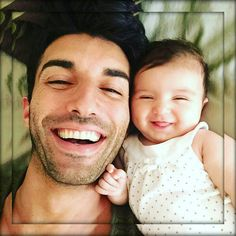 Justin Baldoni of Jane the Virgin & his 4 month old daughter #toocute