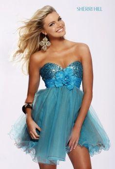 Fabulous Sherri Hill Style/ Cocktail Dresses - Turquoise