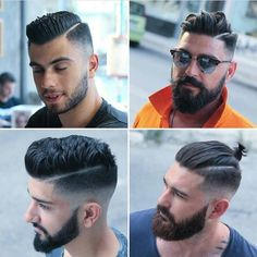 Trendy Mens Hairstyles, Haircuts For Men, Men's Hairstyles, Hair And Beard Styles, Hair Styles, Haircut Designs, Beard Grooming, Hair Shampoo, Bearded Men