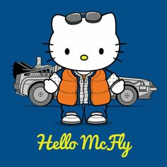 Hello McFly ~ A Morning Dose of Juxtaposition, Back to the Future / Hello Kitty. Hello Kitty Gifts, Hello Kitty Art, Hello Kitty Items, Sanrio Hello Kitty, Here Kitty Kitty, Hello Hello, Bad Kitty, Hello Mcfly, Hello Kitty Imagenes